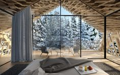 """Peter Pichler Architecture designs luxury """"Tree Suites"""" as part of a new Hotel development close to Kitzbühel, Austria. Architecture Design, Timber Architecture, Vernacular Architecture, Contemporary Architecture, Stay In A Treehouse, Treehouse Cabins, Treehouse Ideas, Treehouses, Modern Wooden House"""