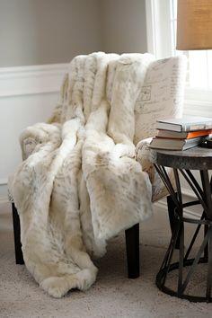 Lynx Limited Edition Faux Fur Throw Blankets