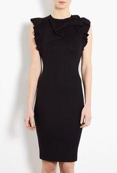 Frill Shoulder Lace Back Jersey Dress by ...