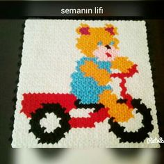 Crochet For Kids, Knit Crochet, C2c, Elsa, Diy And Crafts, Hello Kitty, Crochet Patterns, Kids Rugs, Knitting
