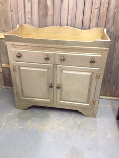 Brushed gold dry sink/baby changing table