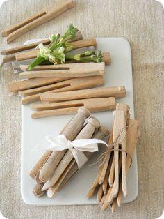 Les pinces à linge en bois