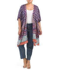 main image of Plus Juniors Long Kimono