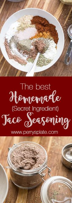 Homemade Taco Seasoning so good youll give it away as a gift paleo recipes recipes taco recipes Easy Taco Seasoning Recipe, Low Carb Taco Seasoning, Seasoning Mixes, Homemade Spices, Homemade Seasonings, Homemade Gifts, Tamales, Enchiladas, Carb Free