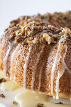 Easy Baklava Bundt Cake Recipe with a Cake Mix | Practically Homemade Baklava Cake Recipe, Cake Recipes, Dessert Recipes, Dessert Blog, Honey Sauce, Vanilla Cake Mixes, Sweet Pastries, Holiday Cakes, Cupcake Cakes