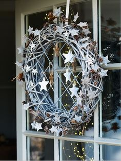 Hanging Willow Wreath - http://www.coxandcox.co.uk/new/hanging-willow-wreath