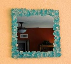 LL Bean-inspired sea-glass mirror - I made this for about $10, the original was priced at $139!