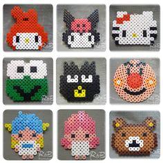 Sanrio characters perler beads by randbworkshop