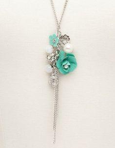 Rosette Cluster Tassel Necklace: Charlotte Russe