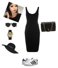 """""""All Black"""" by mswellsfashion on Polyvore featuring Givenchy, Christian Dior, JFR, Topshop, adidas Originals, Chanel, women's clothing, women's fashion, women and female"""