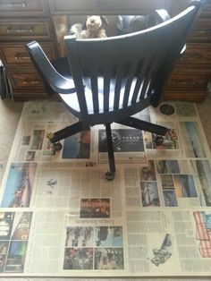chair mats for carpets. My DIY Chair Mat Started W/about An $8 Piece Of Plywood Cut For Free At Lowe\u0027s...i Used Spray Adhesive To Fasten The Newspaper Wood \u0026 Covered It With Mats Carpets