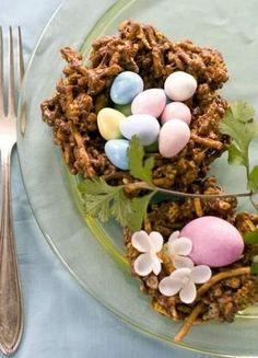 edible birds nest - fun spring activity for kids