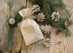 DIY bleached pinecones Bleach Pinecones, Pine Cones, Christmas Decorations, Gift Wrapping, Gifts, Diy, Gift Wrapping Paper, Presents, Bricolage