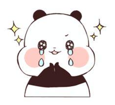 Panda Kawaii, Kawaii Chibi, Panda Love, Cute Panda, Panda Lindo, Baby Hamster, Chibi Cat, Line Sticker, Cute Stickers