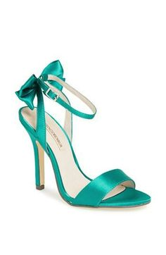"""8 picks for light blue wedding shoes. Pale blue bridal shoes for brides, bridesmaids, mothers, and guests. Blue wedding shoes are a great way to add """"something blue"""" to your look! Wrap Shoes, Ankle Wrap Sandals, Ankle Strap, Heeled Sandals, Strap Sandals, Shoes Sandals, Pretty Shoes, Beautiful Shoes, Light Blue Wedding Shoes"""