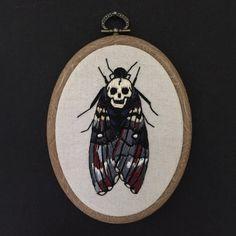 Embroidery hoop Death heads moth by Oeroeboeroe on Etsy