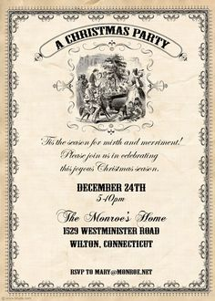 A Dickens' Old Fashioned Christmas Party