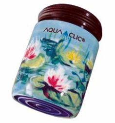 Spart bis zu 50% Wasser und Energie am Wasserhahn: AquaClic Wasserlilien aus Keramik. Gesehen für € 18,95 bei kloundco.de.