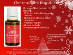 Christmas Spirit Essential Oil www.westoppedpoppingpills.com