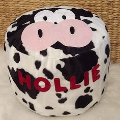Personalised bean bag - Milky Moo Cow - PetitePeople, bean bag