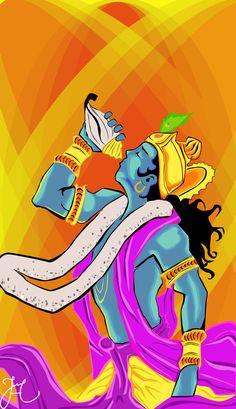 Krishna - Vector Art by NandoCvart on DeviantArt Arte Krishna, Krishna Hindu, Radha Krishna Images, Lord Krishna Images, Hanuman, Lord Shiva Painting, Krishna Painting, Shri Ram Photo, Krishna Avatar
