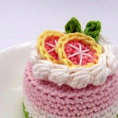 Grapefruit Cake by Bibuki, via Flickr #naturadmc #crochet