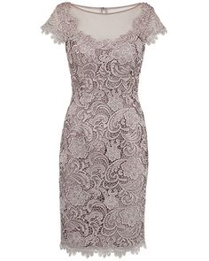 Anthea Crawford Allure Guipure Lace Dress with Scalloped Detail