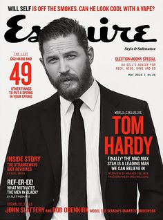 Tom Hardy on the cover of Esquire - May 2015