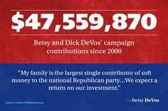Devos trump Idiots for trump But please tell me again about that swamp and how trump is so different you freaking idiot! So our children are being prostituted out to the highest bidder? Betsy Devos, Right Wing, Republican Party, Greed, Social Justice, Food For Thought, Things To Think About, Investing, Wisdom