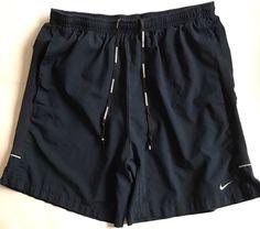 NIKE RUNNING DRI-FIT SHORTS LINED MEN SIZE Medium Navy Blue #Nike #Shorts