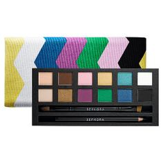 What it is: A set of 12 fashion-forward, bright eye shadows in a chic, fabric palette with chevron stripes in spring colors. What it does: The newest member of the IT palette collection, this Color Spectrum palette features bright colorful shad Best Makeup Brushes, Makeup Brush Set, Best Makeup Products, Beauty Products, Beauty Tips, Sephora Makeup, Makeup Cosmetics, Eye Makeup, Makeup Tips