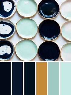 Gold mint and navy blue color inspiration ,navy blue and mint color palette, mint and blue #mint #navybluemint #colorpalette