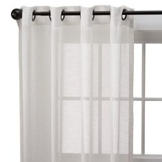 Target : Threshold™ Linen Grommet Window Sheer : Image Zoom