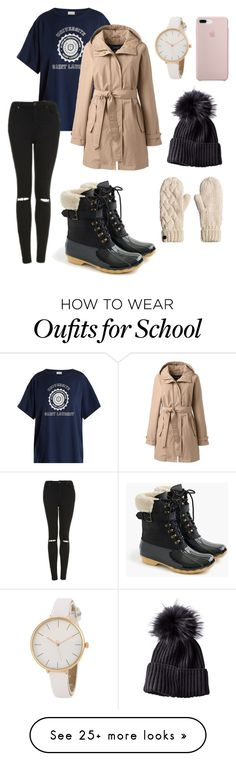 """""""No school tomorrow ❄️"""" by anna-beth224 on Polyvore featuring Yves Saint Laurent, Lands' End, Topshop, Sperry and plus size clothing"""