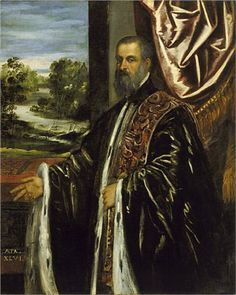 Portrait of a Venetian Senator by Tintoretto, 1560.