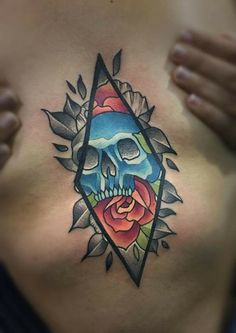 olio.tattoo Geometric Skull Sternum Skulls Tattoo by Trevor from Mythic Ink Tattoo - Pitman, NJ #geometric #skull #sternum #skulls -- More at: https://olio.tattoo/tattoo-images/mentions:geometric