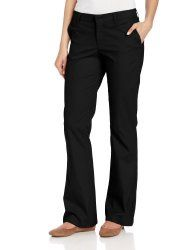 Dickies Women's Flat Front Stretch Twill Pants