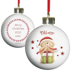 Personalised Forever Friends Christmas Bauble  from Personalised Gifts Shop - ONLY £10.99