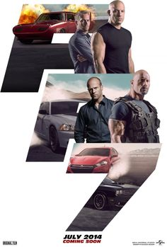Fast and Furious 7. I can't wait!! Statham and Diesel is one film.... Swoon!! RIP Paul Walker