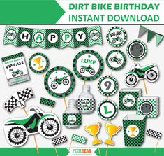 Dirt Bike Birthday Motocross Party Motorcycle Party