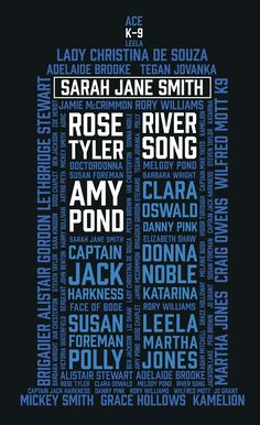 THE TARDIS COMPANIONS NAMES.