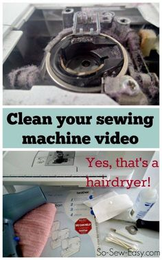 Cleaning the sewing machine