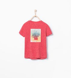 Coral patch T-shirt