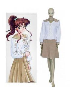 Sailor Moon Classic Kino Makoto Sailor Jupiter School Uniform Cosplay Outfits Costumes