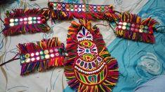 Garba Dress, Navratri Dress, Creative Embroidery, Hand Embroidery Designs, Handmade Jewelry Designs, Handmade Necklaces, Jewelry Patterns, Sewing Patterns, Dandiya Dress