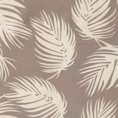 Woven grey e white leaves - Stoff & Stil - Great for DIY curtains!