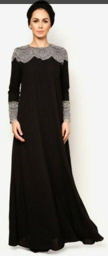J Abaya Carina dari Zalora Islamic Fashion, Muslim Fashion, Modest Fashion, Fashion Dresses, Modest Dresses, Modest Outfits, Dress Outfits, Mode Abaya, Mode Hijab