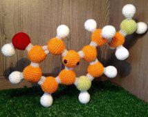 Serotinin Molecule Amigurumi Ball and Stick Model