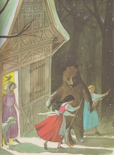 Snow White and Rose Red - by the Brothers Grimm, illustrated by Adrienne Adams