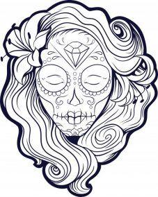 Imagenes Catrinas Calaveras Mexicanas Colorear 10 Mandalas De Calaveras Calaveras Para Colorear Dibujo Dia De Muertos